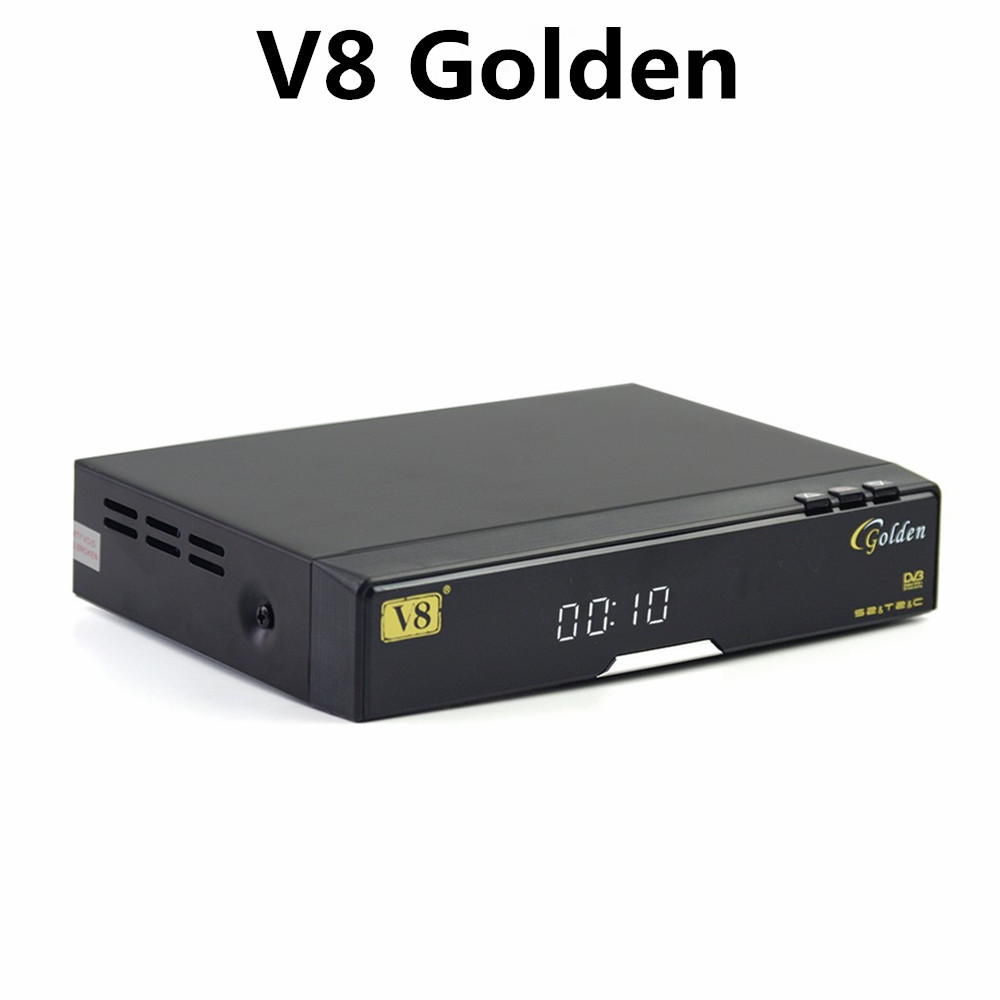 Hot sale Strong 1080p Hd Decoder 2 X Usb 2.0 High Speed Host Satellite Receiver V8 Golden