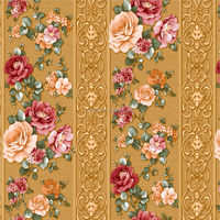 natural flower pvc wall paper for home decoration