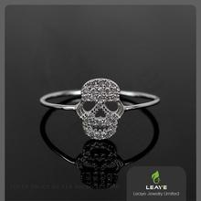 2016 LEAYE custom skull ring 925 silver with high quality