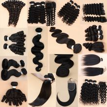 New Products 100% High Quality Virgin Brazilian Human Hair Extension Straight Hair With Closure Real Picture