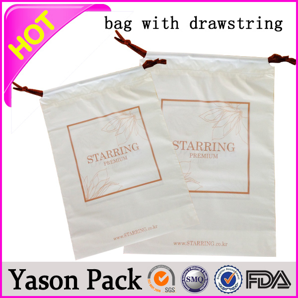 YASON colored drawstring trash garbage bagdrawstring gift hessian bagnon woven drawstring shoe bag