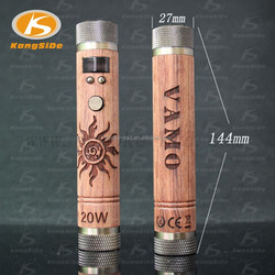 Luxurious design New 2015 wood vaporizer 20w ecig mod vamo fire wooden vape mods
