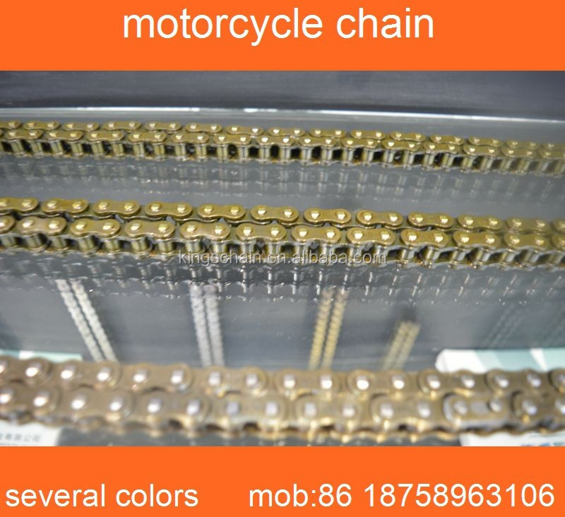 motorcycle parts wholesale golden colored 428H motorcycle chain