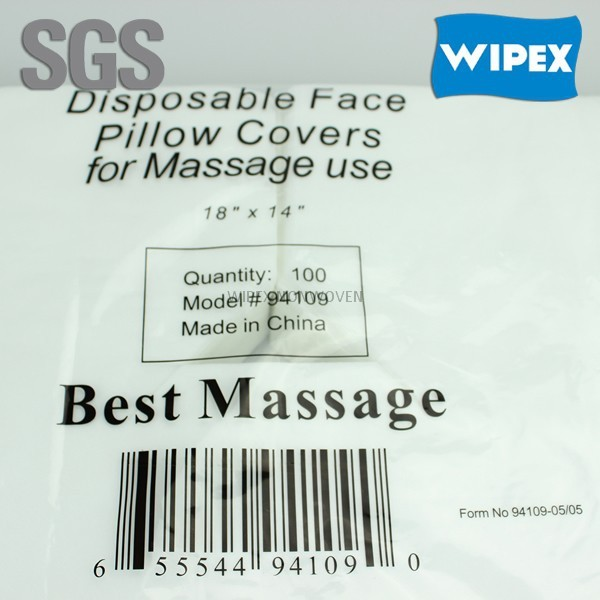 manufacturer spunlaced nonwoven disposable face rest covers for massage tables