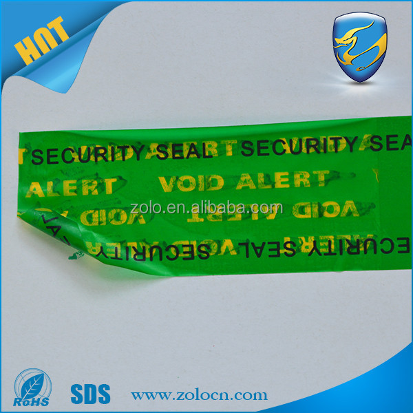OPEN VOID tamper evident security bag sealing tape