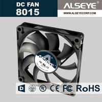 Alseye CB2413 manufacture 12v 24v 48v dc solar fan customized 8015 cooling fan