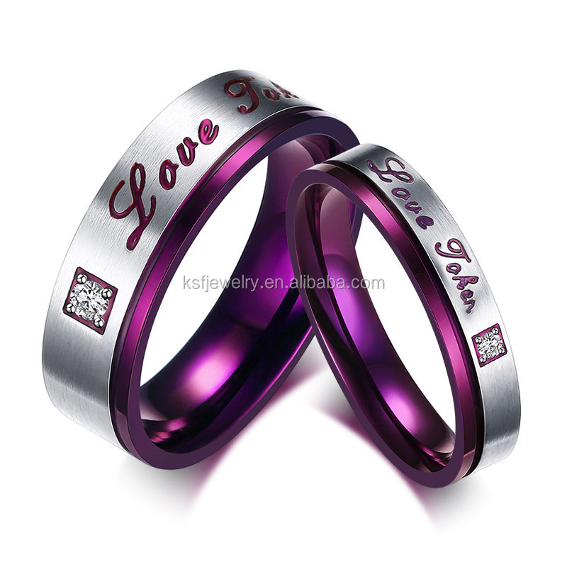 Fashion Stainless Steel Letter Engagement Couple Finger <strong>Ring</strong> Wholesale