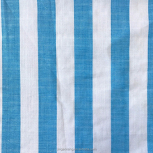 Hot 100% cotton blue and white wide stripe dyed fabric