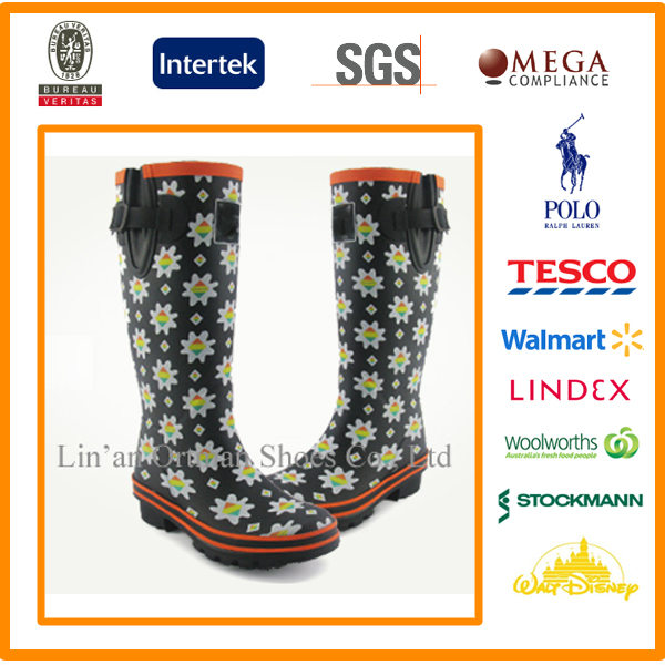Printed rubber rain boots, Rubber wellies, rubber boots from end manufacturer supplier