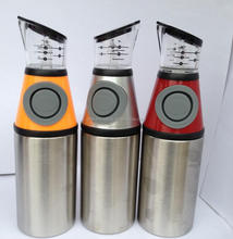 Stainless steel measure oil bottle 500ml stainless steel oil dispenser bottle