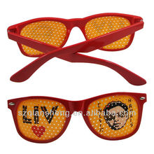 Plastic Pinhole Glasses for Blurred Vision with Letters and Nice Pattern