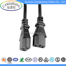 International Current IEC320 C19 to IEC320 C20 European Power Extension Cord Cable