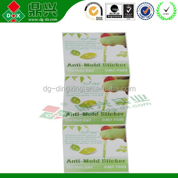 Mildew remover TOP ONE anti-mold Sticker/Chip for shoes