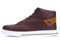DLB032 men popular hot selling high-cut lace-up casual skate shoes