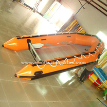 4.1m long rigid dinghy 8 person Zodiac inflatable boat for sale from Guangzhou factory