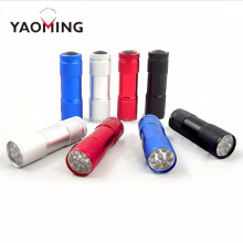 mini AAA battery 9 led flashlight best as promotional gift