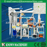 With fully automatic rice mill