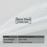 high quality transparent fiberglass cloth 6 oz for surfboard