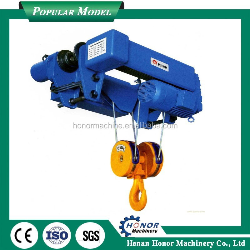 China Made Single Speed Electric Telpher Hoist Light Duty Construction Electric Hoist