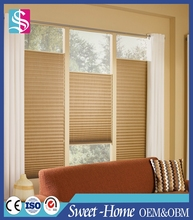 Plain color plisse blind,high quality pleated blind simple window covering