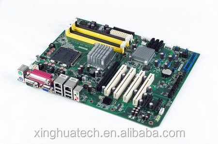 Advantech industrial mini pc motherboard LGA775 Intel Core 2 Quad/Core 2 Duo ATX with VGA, 4 COM, and Dual L