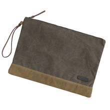 Mens Travel Toiletry Bag Custom Cotton Canvas Makeup Cosmetic Bag