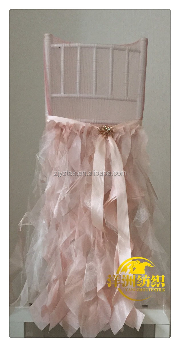 white lace and organza chair skirt caps