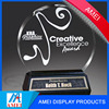 Best selling crystal hand book creative award trophy for wholesale