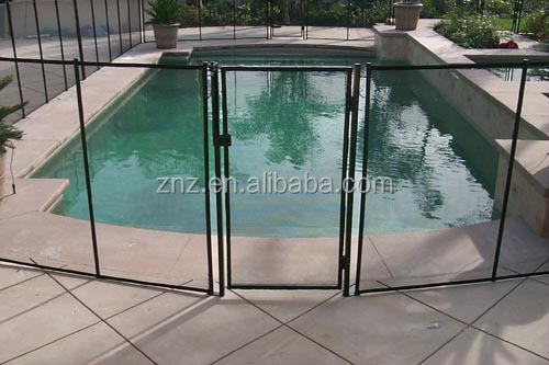 Outdoor Cheap Invisible Pool Fencing Swimming Vinyl Fence High Quality