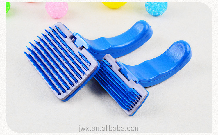 pet accessories tool multifunction plastic cat dog pet bath massage hair removal grooming slicker brush comb hair combs brush