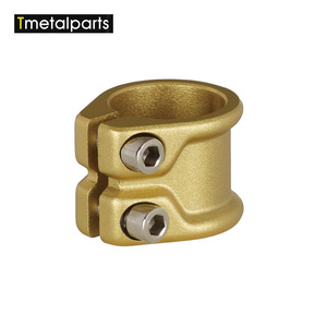 Custom service die casting brass pipe hardware clamp fitting