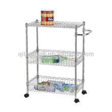 NSF & ISO approved stainless steel kitchen serving trolley cart