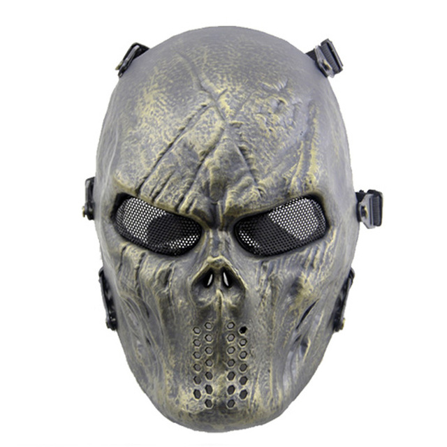 Airsoft full face bullet proof face mask cs tactical skull mask