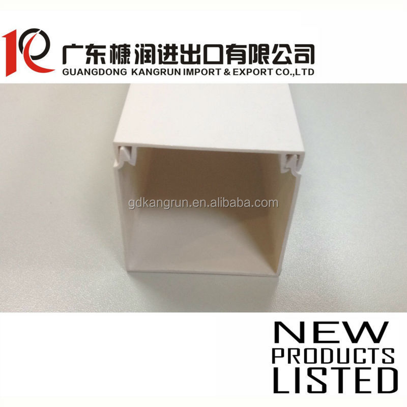 PVC Flame-resisting Wire Duct square/industrial/echelon /arc floor trunking