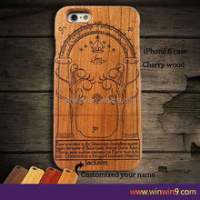real wood phone case/bamboo wooden cases cover for iphone 6 for Iphone 6s/customized bamboo wooden cases cover for iphone 6