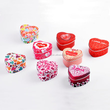 Cheap wholesale custom wedding heart shaped chocolate candy packaging metal tin gift boxes