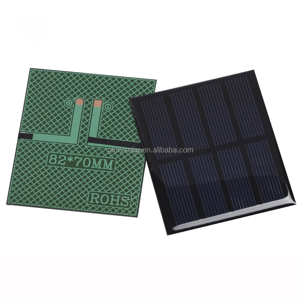 China Factory Offer Custom Size Solar Cells Solar Panel 0.6W 2V 200mA 82*70*3MM Small Solar Panel Customization