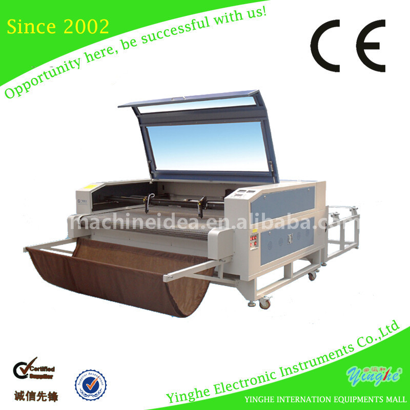 China multicolor wool rug laser cutting machine