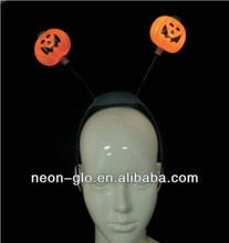 Red Flashing Light up Pumpkin Headband Made in China