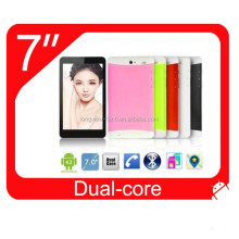 China cheap MTK6572 andriod dual core 3G tablet pc 7 inch wifi gps fm mobile phone BT 0.3M/2.0 camera MTK6572 CPU