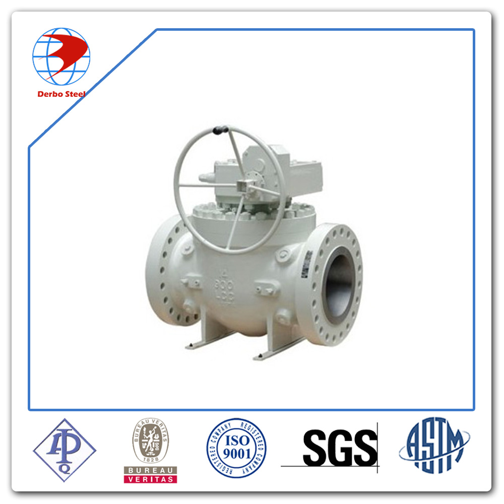 Ball Valve DN200 Low Temperature Carbon Steel A352 LCC Class 600 API6D Standard flanged ball valve