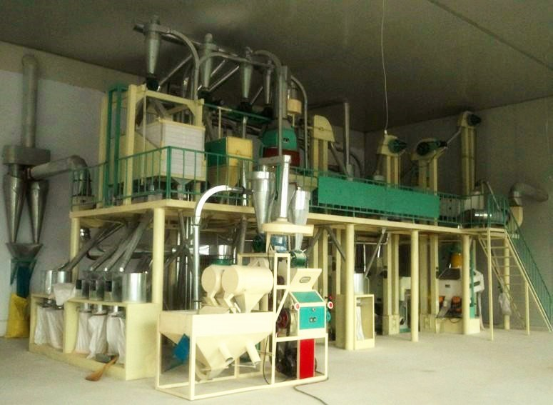 Corn grinding mill complete set of equipment 40TPD maize milling machine type of corn mill machine for price