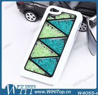 Two colors mixed with rhinestone crystal diamond bling hard case for iPhone 5 5G WHTS002