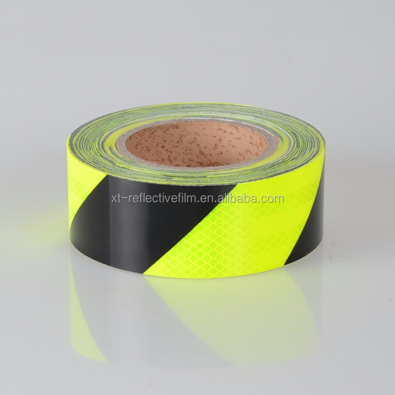 Hazard warning reflective tape for industrial application