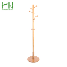 2018 New Design Eco-friendly Small Nature Furniture Bamboo Clothes Tree coat Hanger & Hat rack
