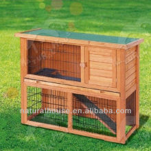 Popular Hot Selling Commercial Wholesale Cheap Double Wooden Rabbit Cage Breeding With Plastic Tray For Sale