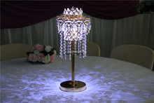 IDA Clear hanging crystal centerpieces/ table top chandelier centerpieces for weddings