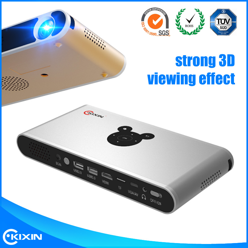 China supplier mobile phone Android 4.4 OS wifi led home cinema mini projector