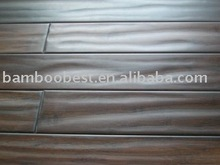 Chocolate hand scraped bamboo flooring