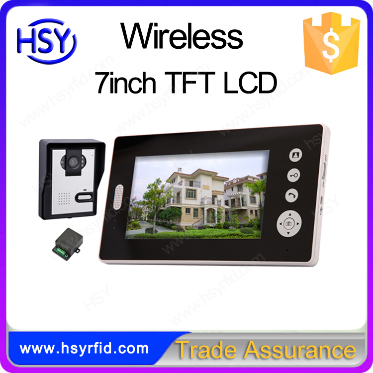 7 inch multi 4 apartment video intercom system for apartment